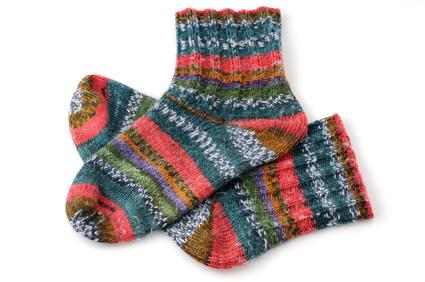 Socken Stricken Teil 1 Bund U Schaft Strickenlerneninfo