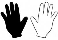 Linkshänder Maschenanschlag