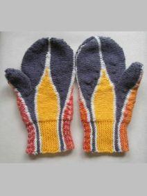 Strickanleitung Handschuhe in Flammen