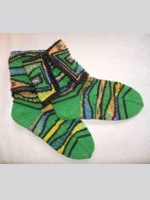 Strickanleitung Socken Wiese
