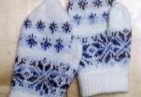 "Handschuhe ""Schneeflocke"""